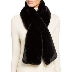 ASPEN Faux Fur Black Wrap Cosy Scarf